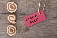 Fest di Frohes Fotografia Stock Libera da Diritti