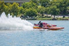 Fest 2017 en automnes de marbre, le Texas de lac Photos stock