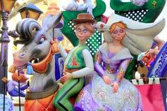 fest fallas postacie mache papier popularny Valencia obrazy royalty free