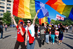 fest homoseksualnej parady uczestnicy Obraz Royalty Free