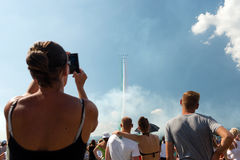 Fest international slovaque 2015, Sliac, Slovaquie d'air photo stock
