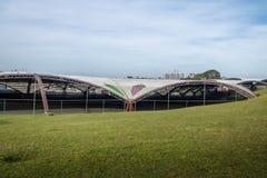 Fest Pavillions de la uva de Festa DA Uva - Caxias hace Sul, Río Grande del Sur, el Brasil Imagen de archivo libre de regalías