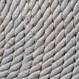 Fest umwickelt, nahes hohes des Seils fischend stockbilder