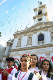 Fest van Onze Dame van Achiropita Stock Fotografie