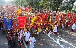 Fest von schwarzem Nazareno, Philippinen stockbild