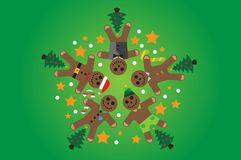 Fest von Weihnachten lizenzfreie abbildung