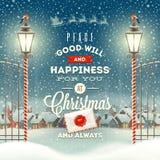 Fest von Weihnachten Stockbild