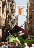 Festa Главн de Gracia в Барселоне Стоковая Фотография RF