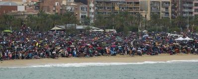 FESTA AL CEL DE MATARO 公共 库存照片