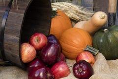 Festa Autumn Apples e zucche Immagine Stock