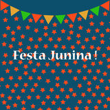 Festa3. Background with colored flags for the June party of Brazil Royalty Free Stock Image