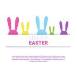 Festa Bunny Symbols Greeting Card di Pasqua del coniglio Immagine Stock