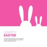 Festa Bunny Symbols Greeting Card di Pasqua del coniglio Fotografia Stock