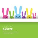 Festa Bunny Symbols Greeting Card di Pasqua del coniglio Fotografie Stock