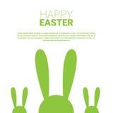 Festa Bunny Symbols Greeting Card di Pasqua del coniglio Immagini Stock Libere da Diritti