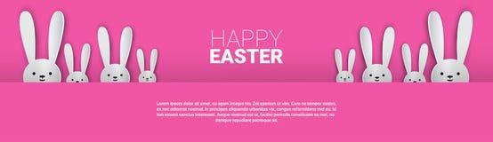 Festa Bunny Symbols Greeting Card di Pasqua del coniglio Immagine Stock Libera da Diritti