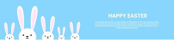 Festa Bunny Symbols Greeting Card di Pasqua del coniglio Fotografia Stock Libera da Diritti