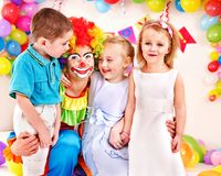Festa de anos da criança. fotografia de stock royalty free