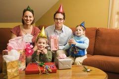 Festa de anos da família. fotografia de stock royalty free