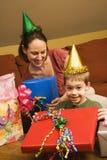 Festa de anos da família. fotos de stock royalty free