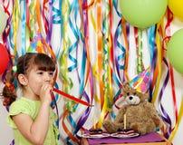 Festa de anos da menina Foto de Stock Royalty Free