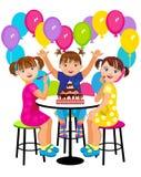 Festa de anos das crianças Imagens de Stock Royalty Free