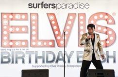 Festa de anos de Elvis Fotografia de Stock