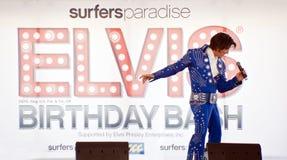Festa de anos de Elvis Foto de Stock Royalty Free