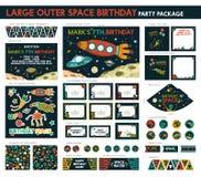 Festa de anos do espaço Imagens de Stock Royalty Free