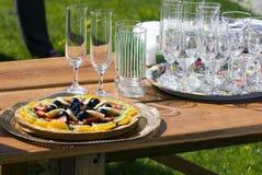 Festa de anos do jardim Fotos de Stock Royalty Free