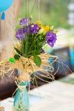 Festa de anos do jardim exterior fotografia de stock royalty free