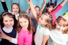 Festa de anos dos miúdos Imagens de Stock Royalty Free