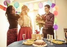 Festa de anos em casa Fotografia de Stock