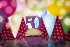 Festa de anos para o aniversário quinquagésimo Fotos de Stock Royalty Free