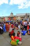 Festa de Krishna no quadrado de Trafalgar Londres imagens de stock