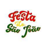 Festa de Sao Joao lettering. Festa de Sao Joao St. John`s holiday lettering poster. June holiday in Portugal. Hand drawn typography text. Vector calligraphy for Royalty Free Stock Images