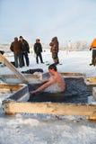 A festa de Theophany em Rússia Fotos de Stock