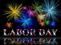 Festa del Lavoro con i fuochi d'artificio Fotografia Stock Libera da Diritti