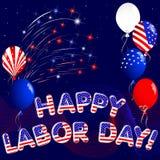 Festa del Lavoro felice. illustrazione di stock