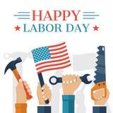 Festa del Lavoro felice illustrazione vettoriale