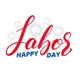 Festa del Lavoro Iscrizione dell'etichetta con lettere per la celebrazione di festa del lavoro di U.S.A. Festa del Lavoro felice Immagine Stock