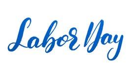 Festa del Lavoro Iscrizione strutturata di lerciume per la celebrazione di festa del lavoro di U.S.A. Immagini Stock Libere da Diritti