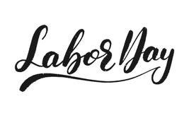 Festa del Lavoro Iscrizione strutturata di lerciume per la celebrazione di festa del lavoro di U.S.A. Immagine Stock