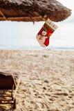 Festa del nuovo anno sulla spiaggia Fotografie Stock