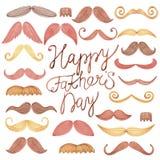 Festa del papà felice della carta dell'acquerello Fotografie Stock Libere da Diritti