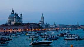 Festa del Redentore在威尼斯 库存照片
