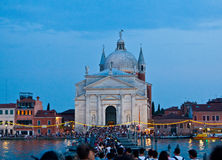 festa del Redentore在威尼斯 免版税库存照片