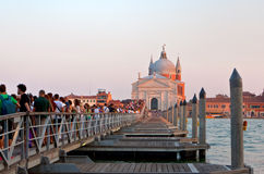 festa del Redentore在威尼斯 免版税库存图片