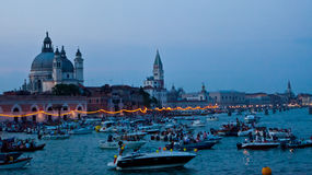 Festa del Redentore em Veneza foto de stock