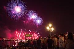 Festa del Redentore-Venedig, Italien Lizenzfreies Stockfoto